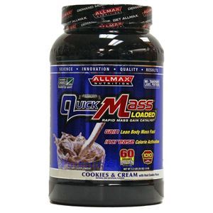 Picture of ALLMAX Nutrition Quick Mass Protein Cookie & Cream Flavor 3.3 lbs