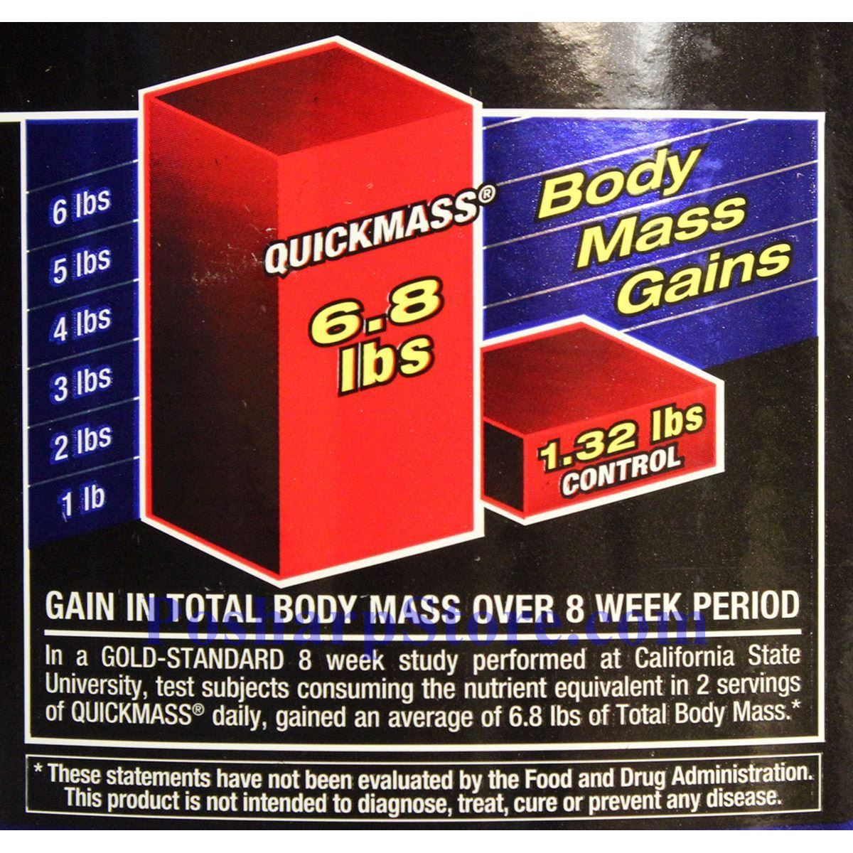 Picture for category ALLMAX Nutrition Quick Mass Protein Vanilla Flavor 6 lbs