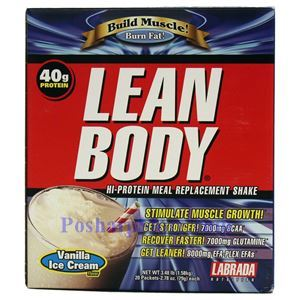 Picture of Labrada Lean Body Build Muscle Hi-Protein MRP Shake Vanilla Ice Cream Flavor 3.48 Lbs 20 Packets