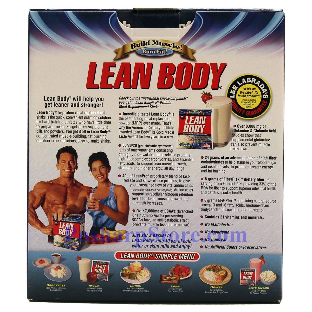 Picture for category Labrada Lean Body Build Muscle Hi-Protein MRP Shake Vanilla Ice Cream Flavor 3.48 Lbs 20 Packets