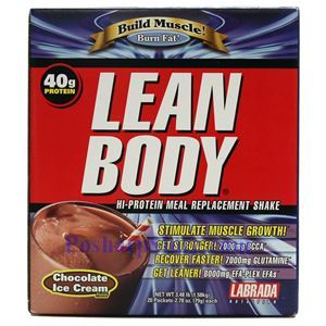 Picture of Labrada Lean Body Build Muscle Hi-Protein MRP Shake Chocolate Ice Cream Flavor 3.48 Lbs 20 Packets