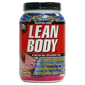 图片 Labrada牌Lean Body健身增肌系列高蛋白代餐奶昔 草莓味 1120克 16次用量