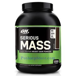 Picture of Optimum Nutrition Serious Mass High Protein Weight Gain Powder Chocolate Flavor 6 lbs