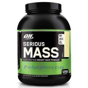 图片 Optimum Nutrition牌Serious Mass增肌系列高蛋白增肌粉 香草味 2720克