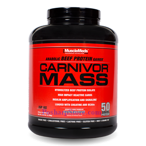 Picture of MuscleMeds Carnivor Mass Anabolic Beef Protein Gainer Chocolate Fudge 5.7 lbs