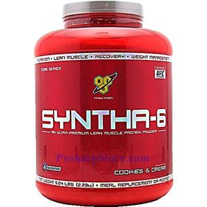 Picture of BSN Syntha-6™ Ultra Premium Lean Muscle Protein Powder Cookies & Cream 5.04 lbs 52 Servings