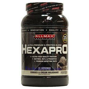 图片 ALLMAX 牌Hexapro系列6种蛋白质混合配方 奶油饼干奶昔 1360克 31次用量