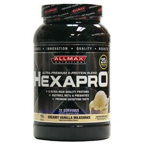 Picture of ALLMAX Hexapro Ultra-Premium 6-Protein Blend Creamy Vanilla Milkshake 3 lbs 31Servings