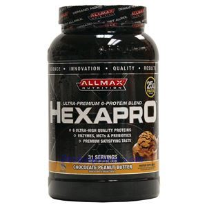 Picture of ALLMAX Hexapro Ultra-Premium 6-Protein Blend Chocolate Peanut Butter 3 lbs 31Servings