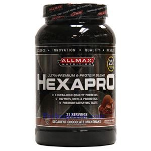 Picture of ALLMAX Hexapro Ultra-Premium 6-Protein Blend Decadent Chocolate Milkshake 3 lbs 31Servings
