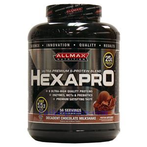 图片 ALLMAX 牌Hexapro系列6种蛋白质混合配方奶昔 无咖啡因巧克力味 2490克 56次用量