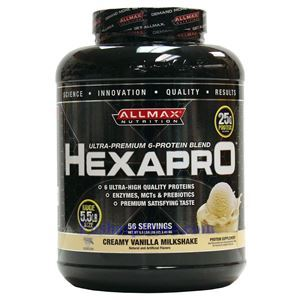 Picture of ALLMAX Hexapro Ultra-Premium 6-Protein Blend Creamy Vanilla Milkshake 5.5 lbs 56 Servings