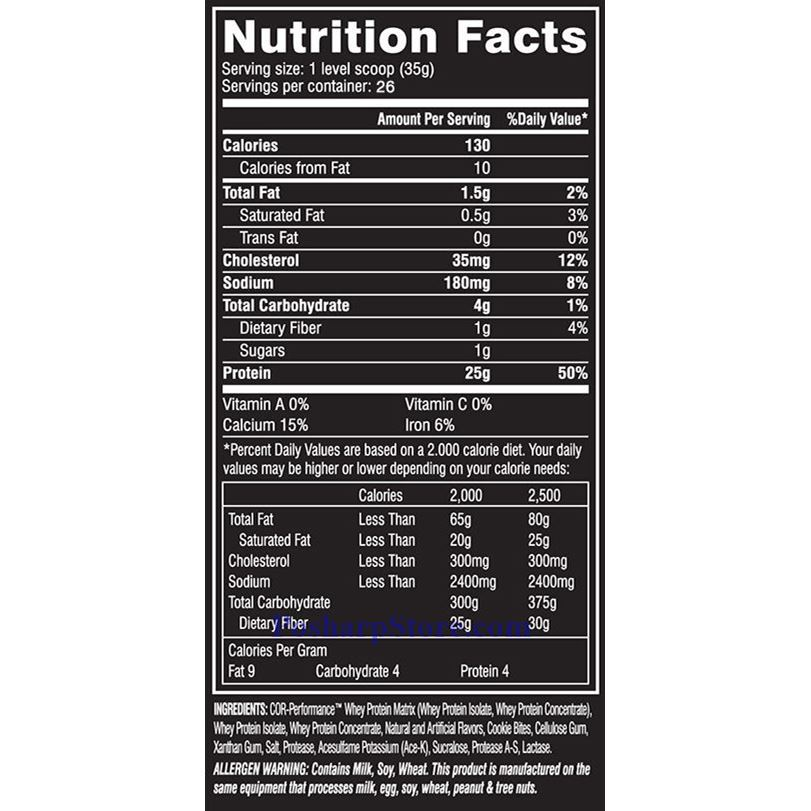 Picture for category Cellucor COR-Performance Whey Protein Chocolate Chip Cookie Dough 2 lbs 26 Servings