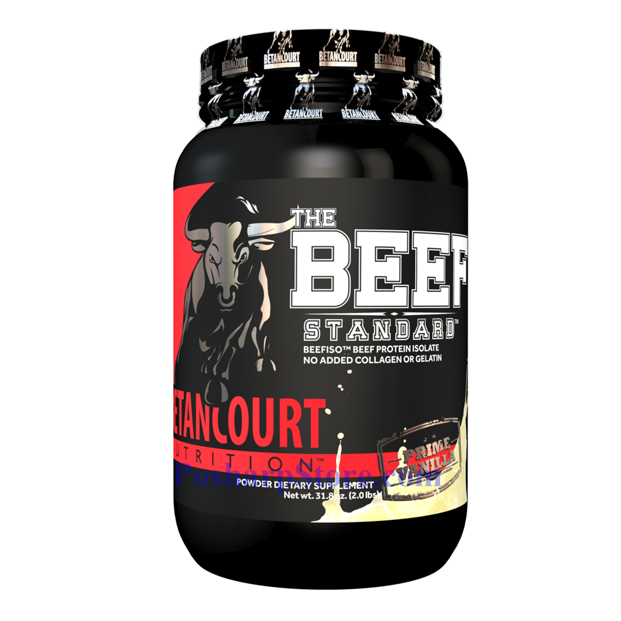 Picture for category Betancourt Nutrition The Beef Standard Beefiso Hydrolyzed Beef Protein Isolat Vanilla 2 lbs 28 Servings