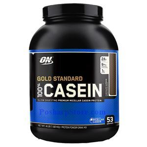Picture of Optimum Nutrition Gold Standard 100% Casein Protein Chocolate Supreme Flavor 4 lbs 53 Servings