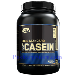 Picture of Optimum Nutrition Gold Standard 100% Casein Protein Chocolate Supreme Flavor 2 lbs 26 Servings