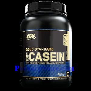 Picture of Optimum Nutrition Gold Standard 100% Casein Protein Creamy Vanilla Flavor 2 lbs 26 Servings