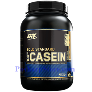 Picture of Optimum Nutrition Gold Standard 100% Casein Protein Chocolate Peanut Butter Flavor 2 lbs 26 Servings