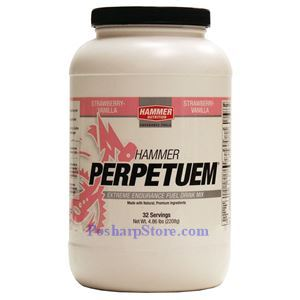 Picture of Hammer Nutrition Perpetuem Extreme Endurance Fuel Drink Mix Stawberry Vanilla Flavor 4.86 lbs 32 Servings