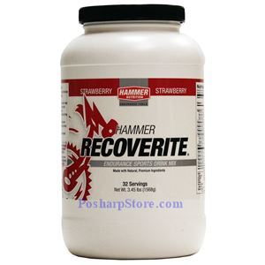 Picture of Hammer Nutrition Recoverite Recovery Drink Stawberry Flavor 3.45 lbs 32 Servings