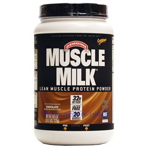 Picture of CytoSport Muscle Milk Lean Muscle Protein Powder Chocolate 2.47 lbs 32 Servings