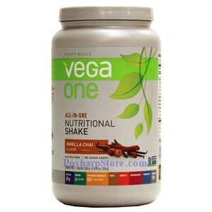 Picture of Vega One All-In-One Plant-Based Nutritional Protein Shake Vanilla Chai Flavor 30.8 Oz 19 Servings