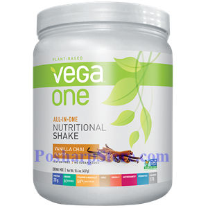 Picture of Vega One All-In-One Plant-Based Nutritional Protein Shake Vanilla Chai Flavor 15 Oz 10 Servings