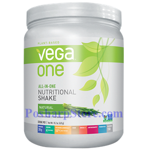 Picture of Vega One All-In-One Plant-Based Nutritional Protein Shake Natural Flavor 15.2 Oz 10 Servings