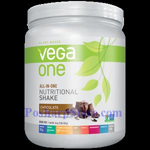 图片 Vega One牌全面的植物蛋白营养奶昔 巧克力味 461克 10次用量