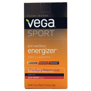 Picture of Vega Sports Pre-workout Energizer Powder Acai Berry Flavor 12 Packs
