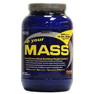 Picture of MHP Up Your Mass Ultmate Mass Building Weight Gainer Fudge Brown Flavor 1.96 Lbs 7 Servings