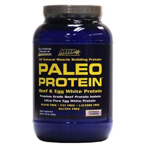图片 MHP 牌Paleo 系列天然增肌增重牛肉鸡蛋蛋白粉 香草杏仁味 823克 28次用量