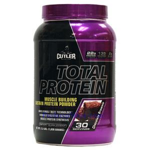 Picture of Cutler Total Protein Muscle Building Sustain Protein Powder Chocolate Brownie Flavor 2.3 lbs 30 Servings