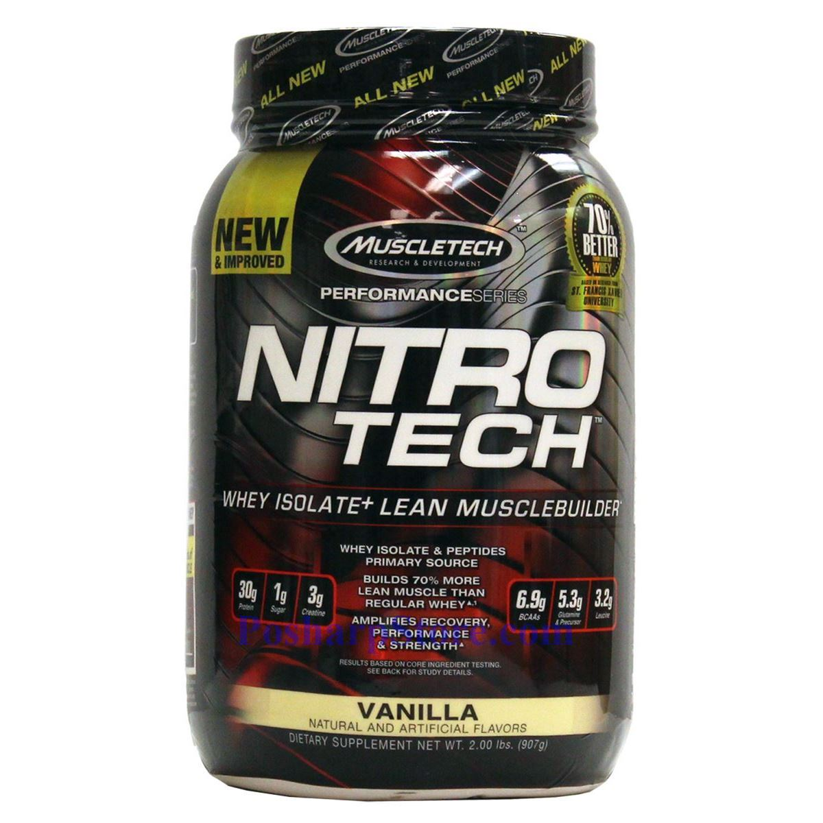 Picture for category Muscletech Performance Series Nitro-Tech Vanilla 2 lbs 21 Servings