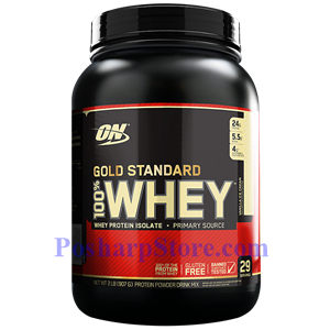 Picture of Optimum Nutrition Gold Standard 100% Whey French Vanilla Creme 2 lbs 29 Servings