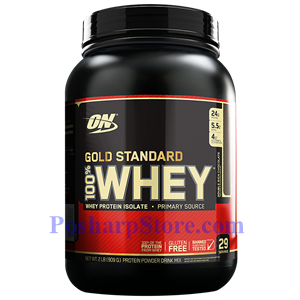 Picture of Optimum Nutrition Gold Standard 100% Whey Double Rich Chocolate  2 lbs 29 Servings