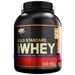 Picture of Optimum Nutrition Gold Standard 100% Whey Strawberry Banana 5 lbs 75 Servings
