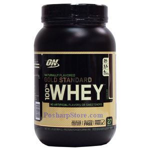 Picture of Optimum Nutrition Gold Standard 100% Whey Protein Naturally Flavored Chocolate 1.9 lbs 27 Servings