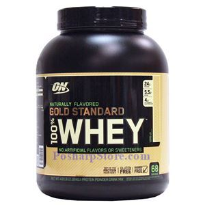 Picture of Optimum Nutrition Gold Standard 100% Whey Protein Naturally Flavored Vanilla 4.8 lbs 68 Servings