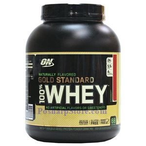 Picture of Optimum Nutrition Gold Standard 100% Whey Protein Naturally Flavored Strawberry 4.8 lbs 68 Servings