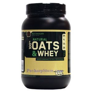 Picture of Optimum Nutrition Natural 100% Oats and Whey Protein Shake Milk Chocolate 3 lbs 26 Servings