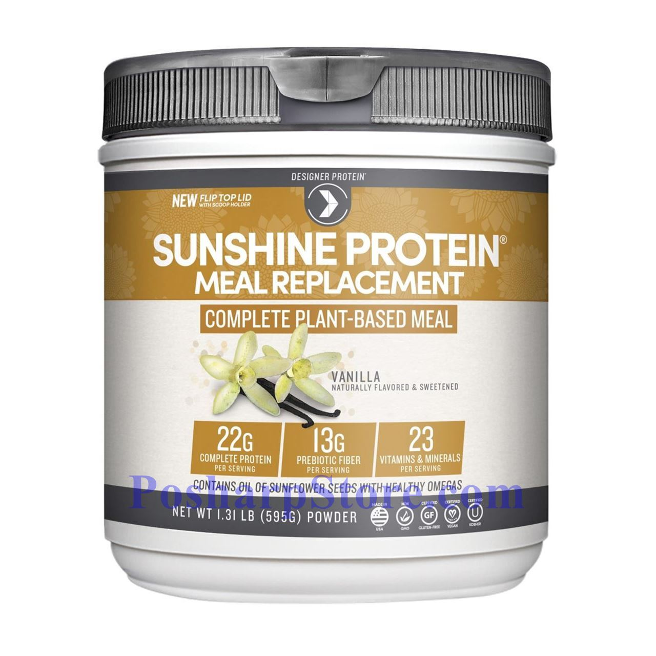 Picture for category Designer Protein Sunshine Protein Plant Based Meal Replacement Vanilla Flavor 1.19 lbs 10 Servings