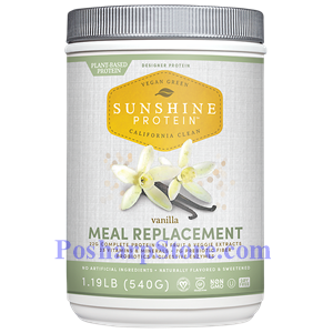 Picture of Designer Protein Sunshine Protein Plant Based Meal Replacement Vanilla Flavor 1.19 lbs 10 Servings