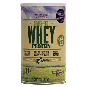 Picture of ReserveAge  Grass-Feed Whey Protein Vanilla Flavor 12.7 oz 12 Servings