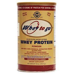 图片 Solgar 牌Whey To Go系列乳清蛋白粉 巧克力味 454克 13次用量