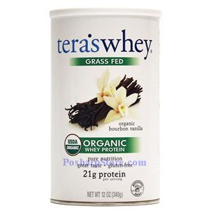 Picture of Tera's Whey Grass-Fed Organic Whey Protein Organic Bourbon Vanilla Flavor 12 Oz 12 Servings