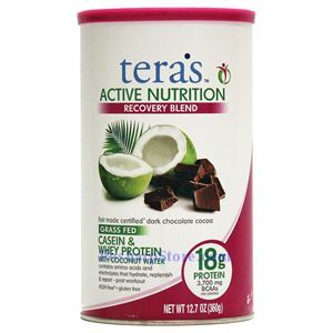 Picture of Tera's Whey Active Nutrition Grass Feed Casein And Whey Protein Blend Chocolate Flavor 12.7 Oz 12 Servings