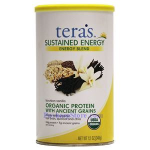 Picture of Tera's Whey Sustained Energy Grass Fed Organic Protein Blend Vanilla Flavor 12 Oz 12 Servings