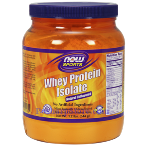 Picture of Now Foods Sports Whey Protein Isolate Unflavored Powder 1.2 Lbs 19 Servings