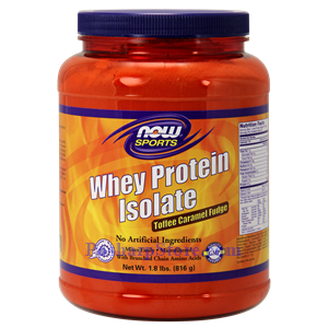 Picture of Now Foods Sports Whey Protein Isolate Toffee Caramel Fudge Powder 1.8 Lbs 24 Servings